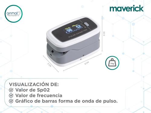 oxímetro saturómetro maverick con curva   correa cms50d1