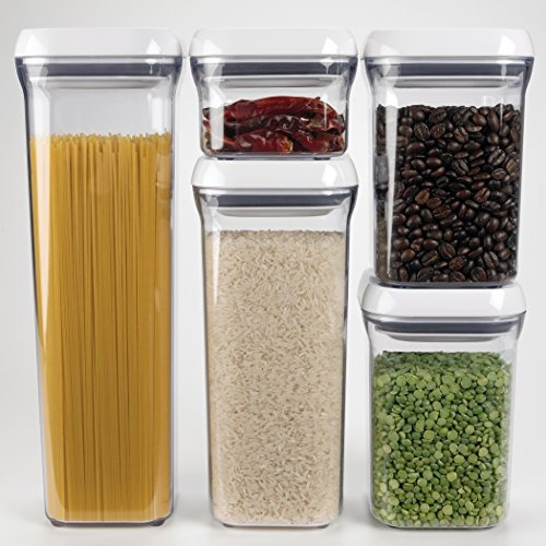 oxo good grips 5-pieza pop container set