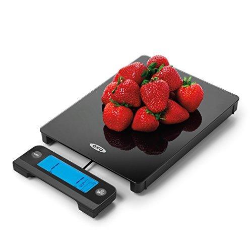 oxo good grips  balanza digital de vidrio para alimentos con