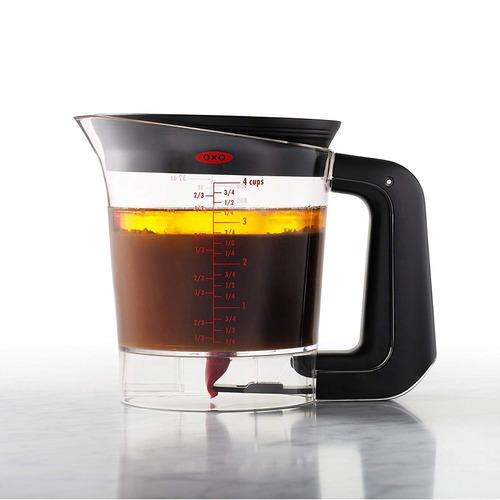 oxo good grips good gravy fat separator, 4-cup