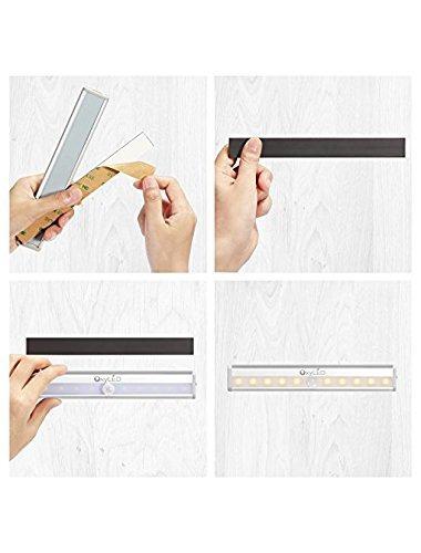 oxyled motion sensor luces del armario, luz del gabinete, br