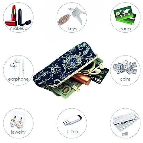 oyachic 2 paquetes monedero teléfono celular bolsa folkcust