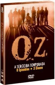 oz a terceira temporada box original com 3 dvds