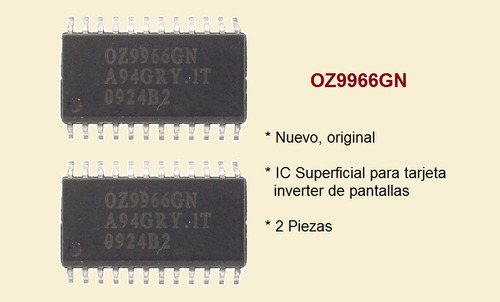 oz9966gn  2 pz  circuito tarjeta inverter puebla