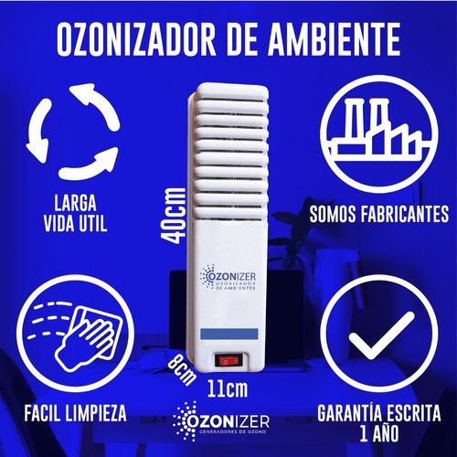 ozonizador doble - purificador ioniza y elimina olores 300m3