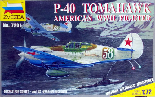 p-40 tomahawk escala 1/72 svezda