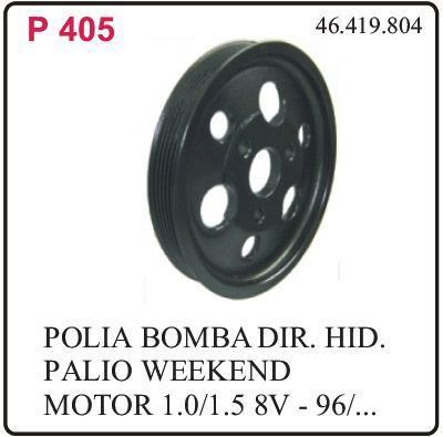 p-405 polia da bomba direcao hidraulica fiat palio 1.0/1.5