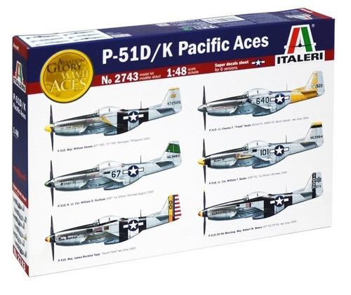 p-51d/k pacific aces 1/48  italeri no 2743