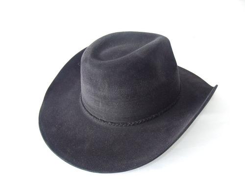 p- chapéu country dallas com 9cm de aba cor preto (rodeio)