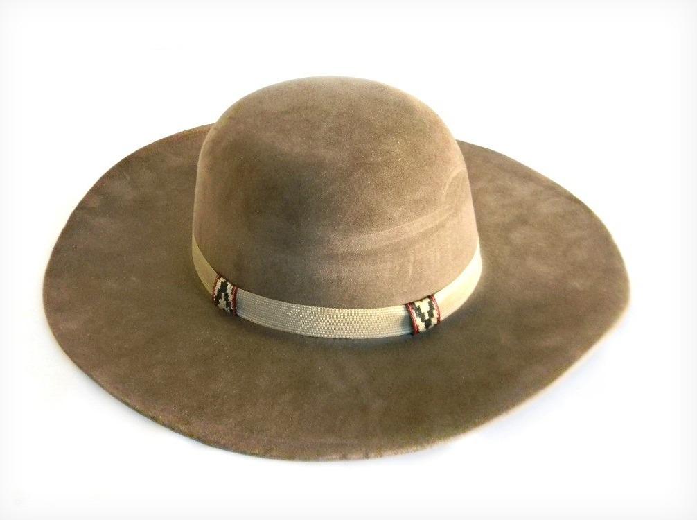 p - chapéu gaúcho pantaneiro marrom aba 10cm+barbicacho. Carregando zoom. 19250971f66
