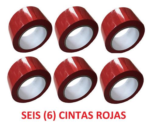 p cinta roja adhesiva x 6 unidades