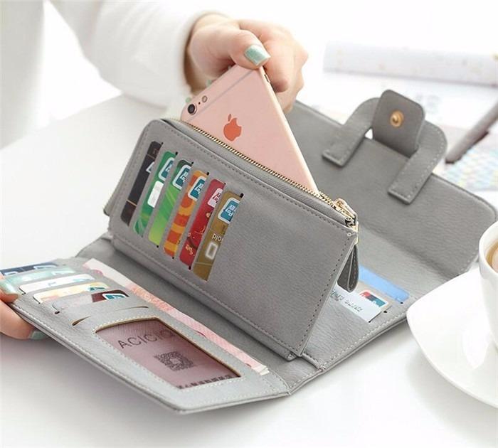 e5d08635676 P/ Dama Cartera Funda P/celular Monedero Tipo Piel - $ 320.00 en ...