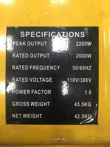 p. eléctrica de 2200w