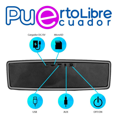 p o  t e n t e parlante bluetooth + usb + radio + luces led!