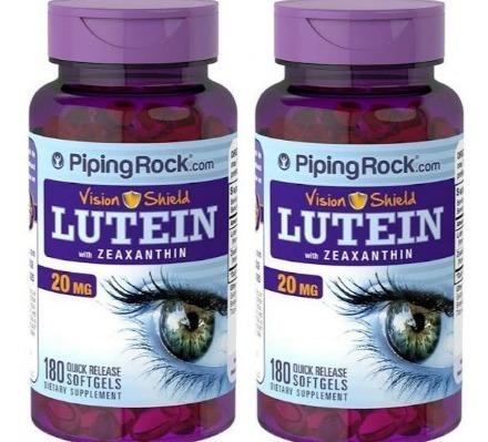 p/ olhos luteína zeaxantina 20mg 360caps(2 frascos) - barato