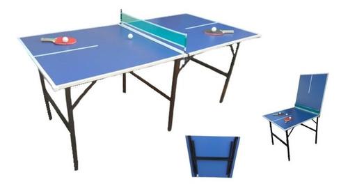 p r o m o -25% mesa ping pong patas plegables familiar + set