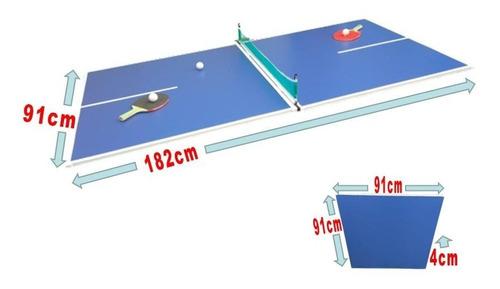 p r o m o -25% tapa ping pong plegable p/ metegol tejo + set