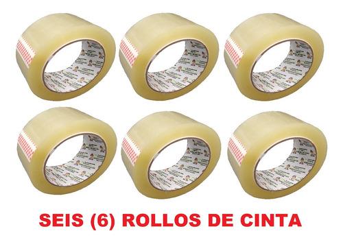 p rollo de cinta de alto pegante por 100m x 6 unidades