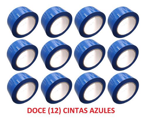 p rollo de cinta de color azul x 12 unidades