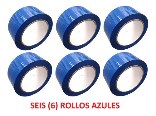 p rollo de cinta de color azul x 6 unidades