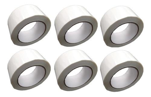 p rollo de cinta de color blanco x 6 unidades