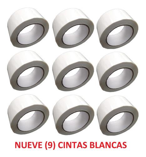 p rollo de cinta de color blanco x 9 unidades