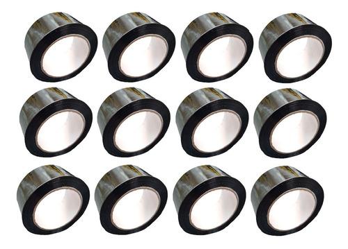 p rollo de cinta de color negro x 12 unidades