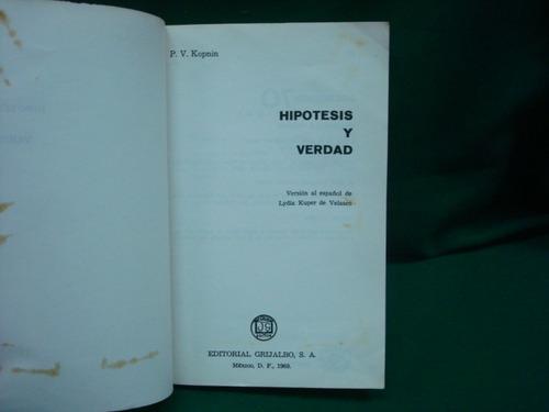 p. v. kopnin, hipótesis y verdad