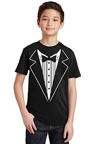 p y b esmoquin camiseta para jovenes color blanco