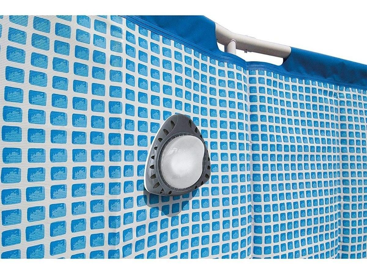 piscina de bajo sobre el nivel del suelo Piscina de luz magnética de LED Intex