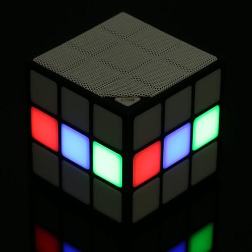 p1 cubo bluetooth altavoz portátil led rgb luz sin hilos al
