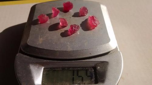 p17   7rubi vermelho bruto natural 15,0cts :  pedra:  rub