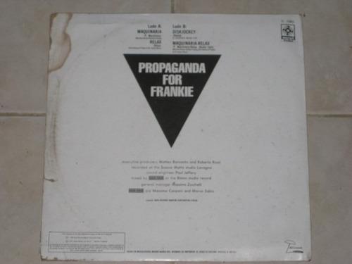 p4f propaganda for frankie maquinaria/dj disco acetato vinil