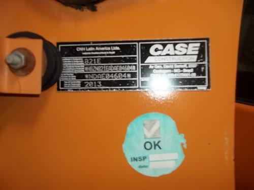 pá carregadeira case 821e | ano 2013