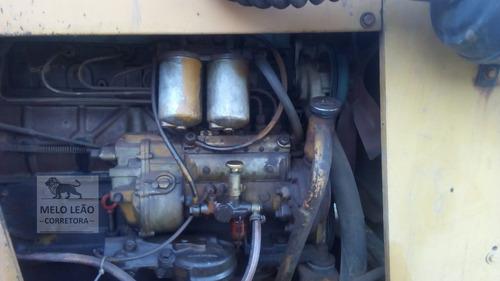 pá carregadeira case w7 e - ano 1982 - motor mb, bem cuidada