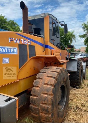 pá carregadeira fiatallis fw160 ano 2007 - c/ 17.700 horas *