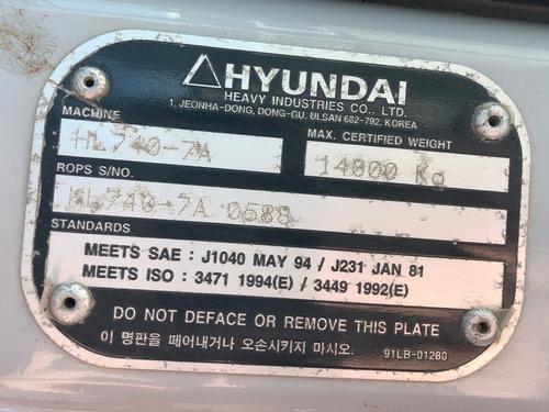 pá carregadeira hyundai  hl 740-7a  2011=caterpillar,624k