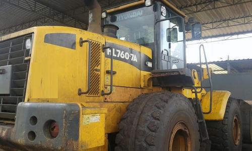 pá carregadeira hyundai hl760 2012 - porte caterpillar 950