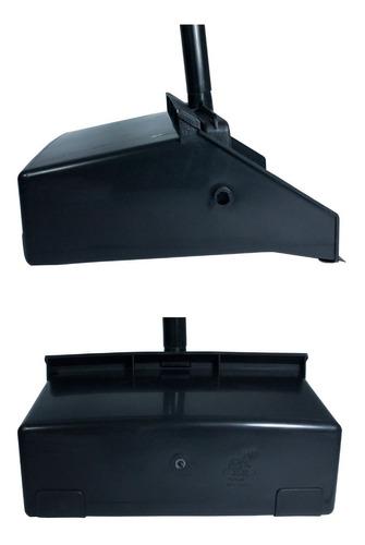 pa plástica com cabo preta jsn articulada coletora de lixo