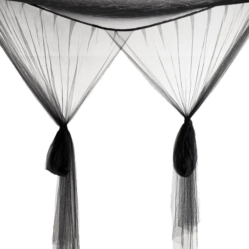 pabellón mosquitero king size, cuatro esquinas (color negro)
