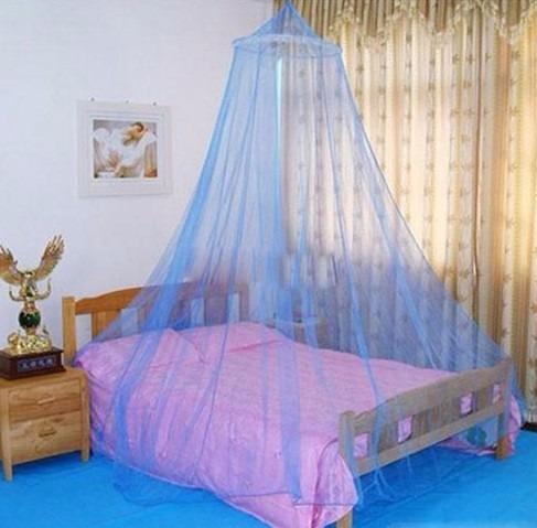 Mosquitero pabell n elegante para cama azul y rosa 149 for Mosquiteras para camas