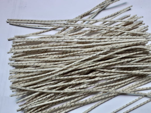 pabilos encerados 25 alma algodón 20cm #32 veladora quematic