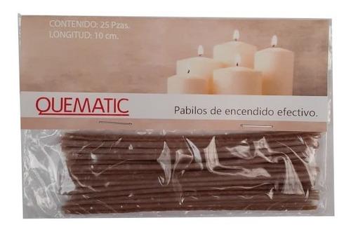 pabilos encerados 25 alma papel 10cm #16 veladora quematic