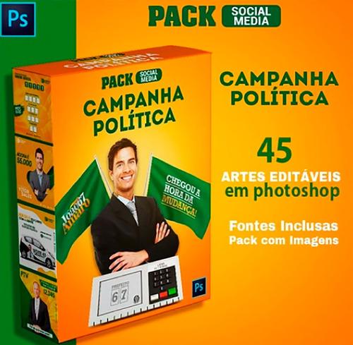 pac 45 artes campanha política/político editável em psd