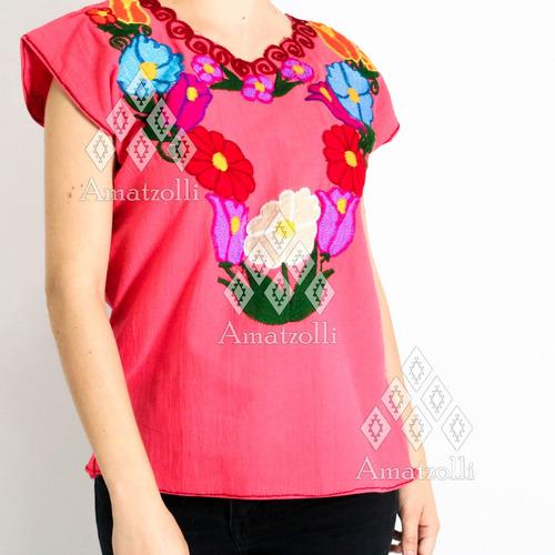 paca 50 blusas artesanales mexicanas bordado varios diseños