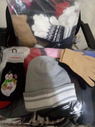 paca americana de guantes, gorrosy calcetines mixta 225 pzas