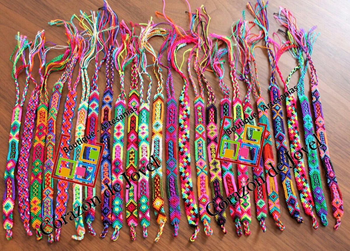fb73d5881c1c Paca/lote 108 Pulseras Artesanales De Hilos De Chiapas (1cm)