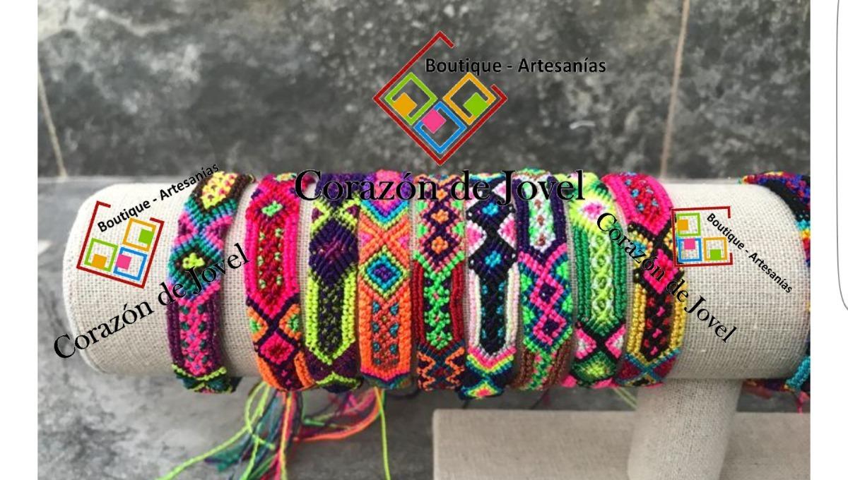 45bf8cab202d Paca/lote 24 Pulseras Artesanales De Hilos De Chiapas (1cm)