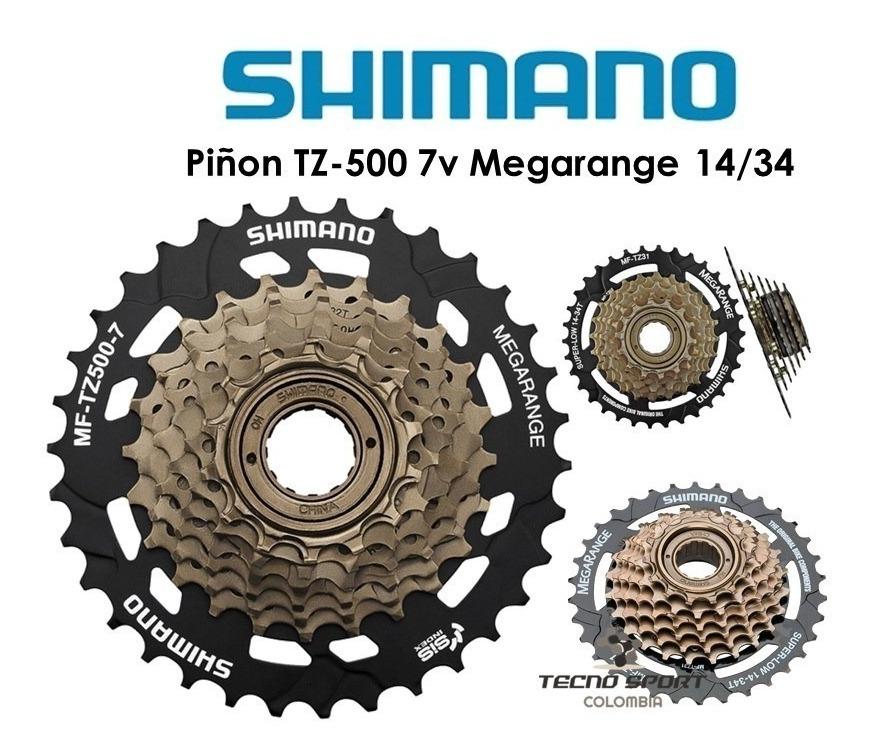 Conjunto de Engranajes 7 Velocidades Marca Shimano Para Bicicleta Tamaño 14-34T