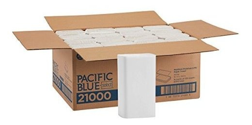 2 Cases GP PRO Pacific Blue Select White 2-Ply Premium Multifold Paper Towel